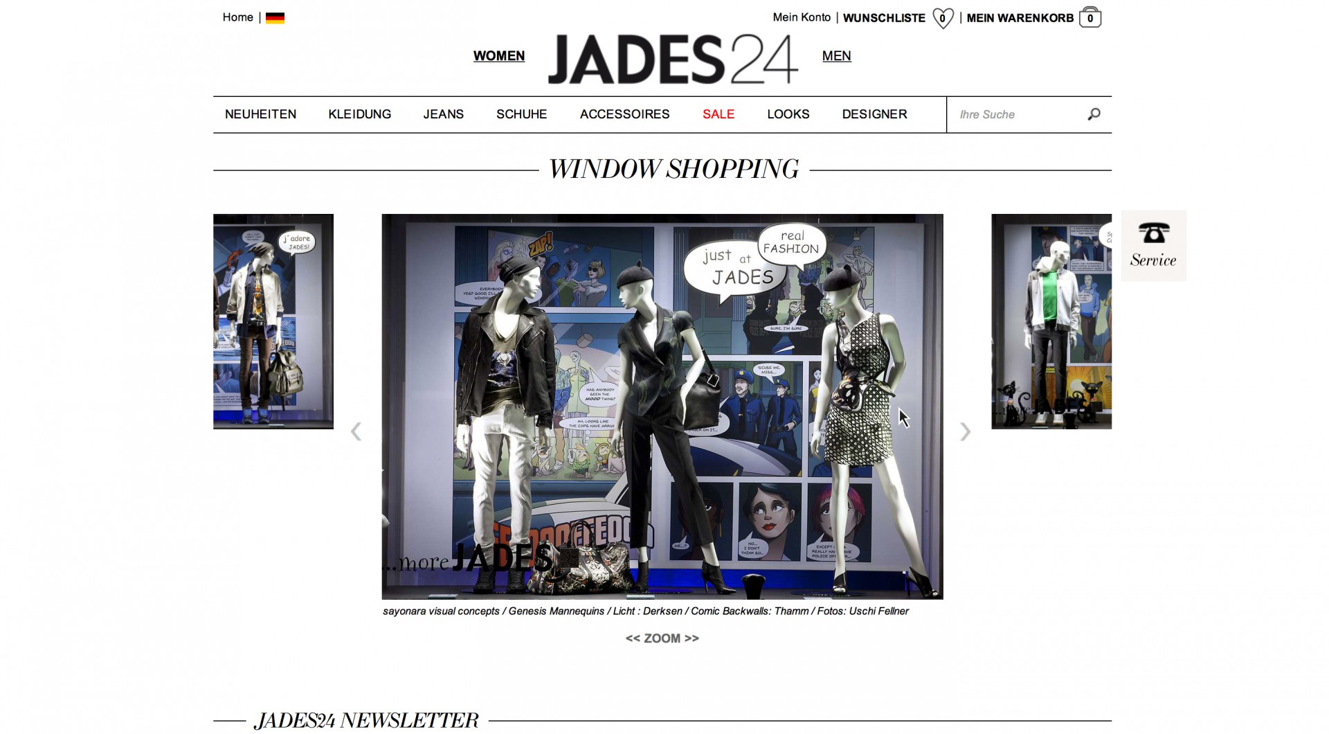 Concept for Virtual Window Shopping by Sayonara Visual Concepts / Domagoj Mršić and Jades 24. Realization by Jades 24.